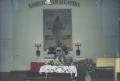 Liepājas Brāļu draudzes baznīcas altāris Pļaujas svētkos