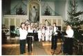 2005. gada decembris. Bērnu ansambļa (vadītāja Zane Paegle) un jauniešu Slavēšanas grupas koncerts baznīcā