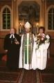 Arhibīskaps Jānis Vanags, Valmieras iecirkņa prāvests Jānis Vaskis, draudzes mācītājs Raitis Jākobsons 2004. gada 12. septembrī pēc draudzes dibināšanas dienai veltīta dievkalpojuma