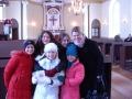 Draudzes locekļi Suntažu baznīcas zālē