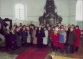 Jaunās draudzes padomes vēlēšanas 2003. gada 16. martā, priekšplānā toreizējais draudzes mācītājs Mārcis Zeiferts