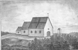 Vecpiebalgas baznīcas ēka līdz 1700. gadam