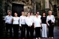 Berģu draudzes liturģiskais ansamblis pēc koncerta pie Sv. Elizabetes katedrāles Košicē, Slovākijā