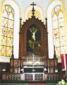 Baznīcas altāra retabls ar altārgleznu